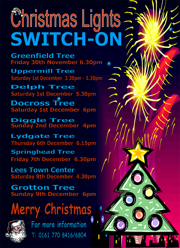 Christmas lights switch-on in Saddleworth - Diggle News