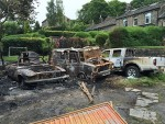 Aftermath of the fire on Nicker Brow, Dobcross