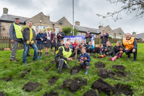 Diggle Primary School, Rotary Club and the Diggle Community Association (Photo: ©stuartcoleman)